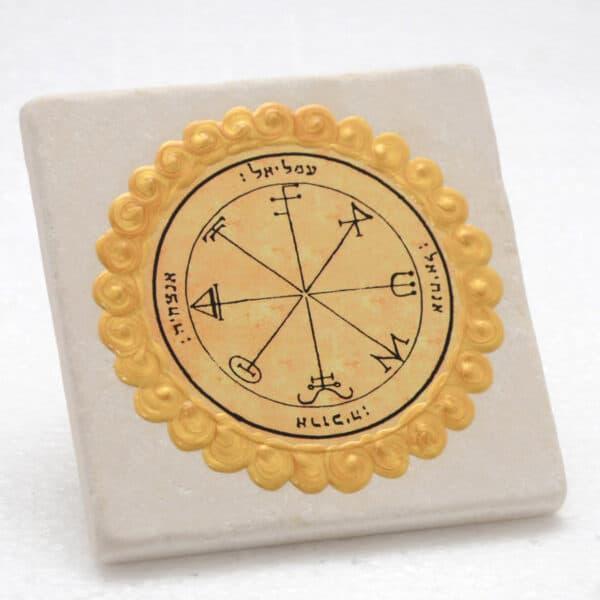 King-Solomon-seal-Jerusalem-Stone-Tile-no.28