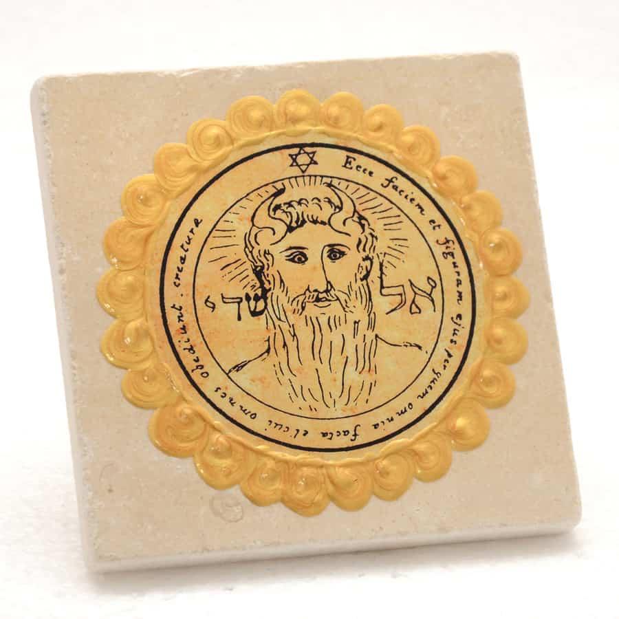 King-Solomon-seal-Jerusalem-Stone-Tile-no.33