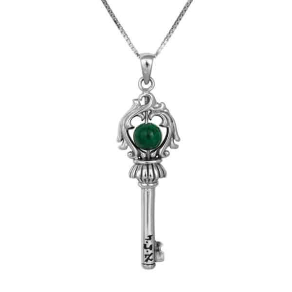 The-Key-of-Soul-for-awarenessand-spiritual-growth-(jade-stone)+-Chain-(925)